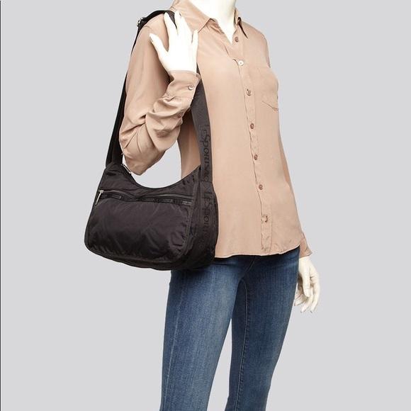 Lesportsac Handbags - Lesportsac classic hobo travel purse bag black